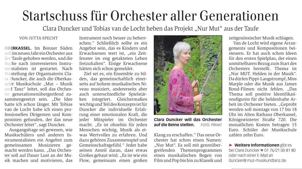 Musikschule mut | Bonn-Oberkassel | mut-Orchester